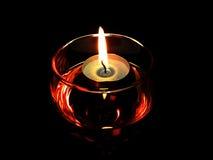 Stearinljus i exponeringsglas Royaltyfri Bild