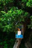 Stearinljus i glass lampor Se mina andra arbeten i portfölj Gifta sig i Monteneg Royaltyfria Bilder