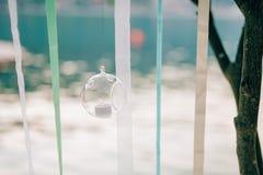 Stearinljus i glass lampor Se mina andra arbeten i portfölj Gifta sig i Monteneg Arkivbild