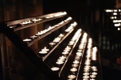Stearinljus i kyrkan Fotografering för Bildbyråer