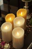 Stearinljus i vård- brunnsort Royaltyfri Fotografi