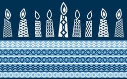 stearinljus isolerade white royaltyfri illustrationer