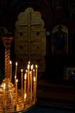 stearinljus kors Royaltyfri Bild