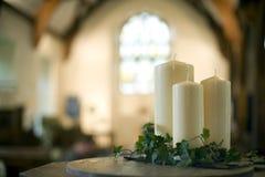 stearinljus kyrka Royaltyfri Bild