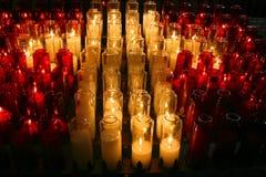 stearinljus kyrka Arkivfoton