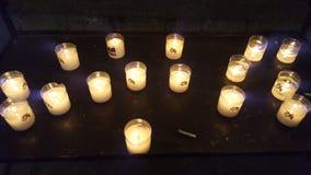 stearinljus lampor Arkivbild