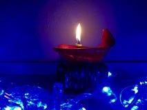 Stearinljus ljus på natten Arkivfoton