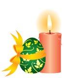Stearinljus och ägget stock illustrationer