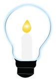 Stearinljus och lampa Royaltyfri Bild