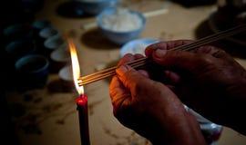 Stearinljus och troget Fotografering för Bildbyråer