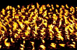 Stearinljus på det Boudhanath tempelet Arkivbilder