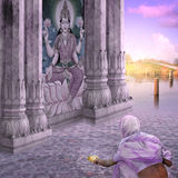 Stearinljus på Gangesen royaltyfria foton