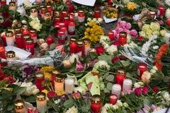 Stearinljus på jul marknadsför i Berlin, dagen after Fotografering för Bildbyråer