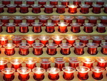 Stearinljus på knackningdomkyrkan Irland Arkivbilder
