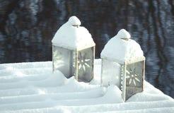 stearinljus snow Fotografering för Bildbyråer