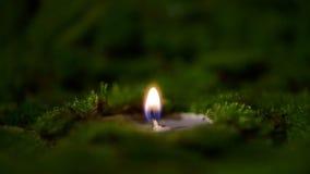 Stearinljus som bränner på altaret