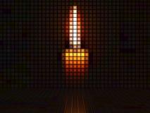 Stearinljus som göras ut ur ljusa kuber Arkivfoto