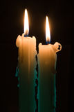 stearinljus två Royaltyfri Fotografi