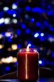 Stearinljus under jul Fotografering för Bildbyråer