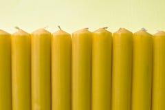 stearinljus yellow Arkivfoto