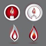 Stearinljusbegreppsdesign med olika former Arkivfoto
