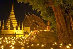 stearinljuschiangmaitempel thailand royaltyfri foto