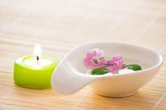 stearinljuscloseupen blommar little Royaltyfri Fotografi