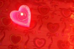 stearinljusdatalisthjärta Arkivbild