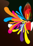 stearinljuseps-livstid som skiner Royaltyfria Bilder