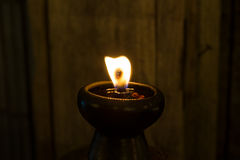Stearinljuset avfyrar royaltyfri bild