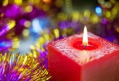 Stearinljuset flammar fotografering för bildbyråer