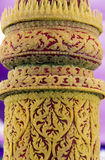 Stearinljuset inristar stöpningsskulptur Fotografering för Bildbyråer