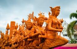 stearinljusfestival thailand Arkivfoto