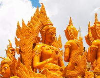 Stearinljusfestival Ubon Thailand arkivfoton