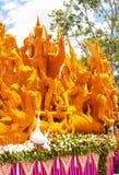 Stearinljusfestival Ubon Thailand arkivbilder