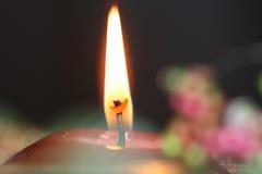 stearinljusflamma Arkivfoto