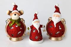 Stearinljushållare för jul 1 Arkivfoto