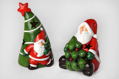 Stearinljushållare för jul 2 Fotografering för Bildbyråer