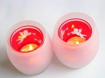 stearinljusjulhållare Fotografering för Bildbyråer