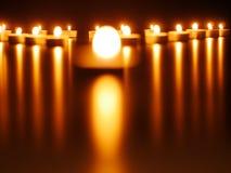 Stearinljusljus arkivbild