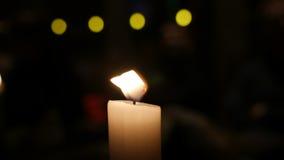Stearinljusljus Arkivfoto