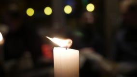 Stearinljusljus Fotografering för Bildbyråer