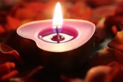 Stearinljusljus eller festival av ljus Arkivfoto