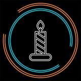 Stearinljussymbol Logobeståndsdelillustration stock illustrationer