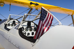 Stearman aircraft. At a fly-in event in Arizona Royalty Free Stock Photo