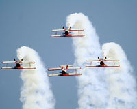Stearman bi-planes inverted Stock Photos