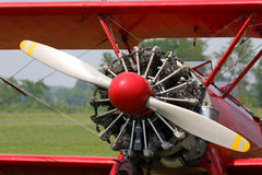 Stearman red biplane Royalty Free Stock Images
