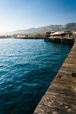 Stearn's Wharf, in Santa Barbara, California. Stock Photo