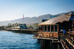 Stearn's Wharf, in Santa Barbara, California. Stock Image