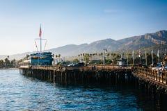 Stearn's Wharf, in Santa Barbara, California. Stock Images